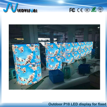P10 Outdoor LED Cylindrical Display Used For Cultural Square