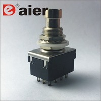 PBS-24-402(412) 12 Pin 4PDT Soler Terminal Push Button Switch