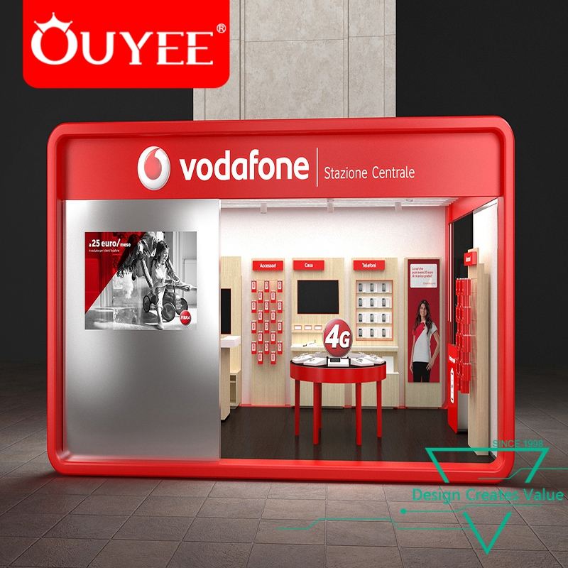 Wooden Cellphone Retail Store Furniture Electronics Shop Counter Design for Mobile