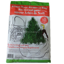 disposable manufacturer custom white ldpe clear plastic christmas tree removal bag