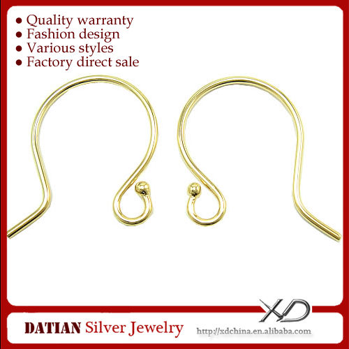 XD X138 925 Sterling Silver Earring Hooks with Ear Wire Ball
