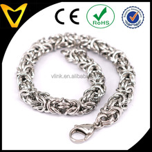 Byzantine Chainmaille Bracelet Stainless Steel Rings Byzantine Style - 7 12 Chain Maille Mail Steel Bracelet