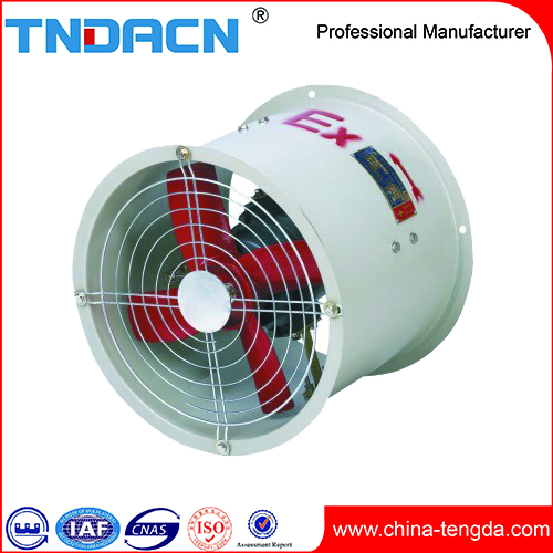 China Manufacture 220V 380V CCC CQC CNEX ISO Energy saving Free Standing Explosion proof Axial Flow Fan