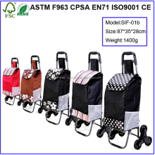 Best sale trolley luggage bag,portable folding shopping trolley bag with wheels