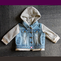 Chic mini girl outerwear children girls denim jacket baby cardigan kids clothes jackets coats for fall and winter season