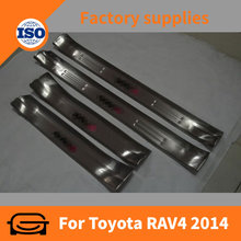 stainless steel scuff plate/door sill for Toyota RAV4 2013 + Door Sill Plate