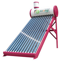 compact unpressurized solar boiler, hot water heater