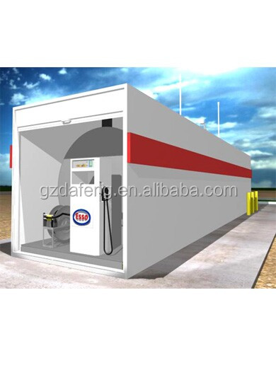 ISO standard 40ft mobile gasoline station tank container