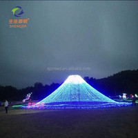 Different Led Holiday modern LED motif light large net lamps