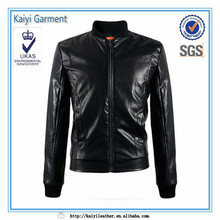 cheap faux leather jacket slim fit bomber waterproof leather garment
