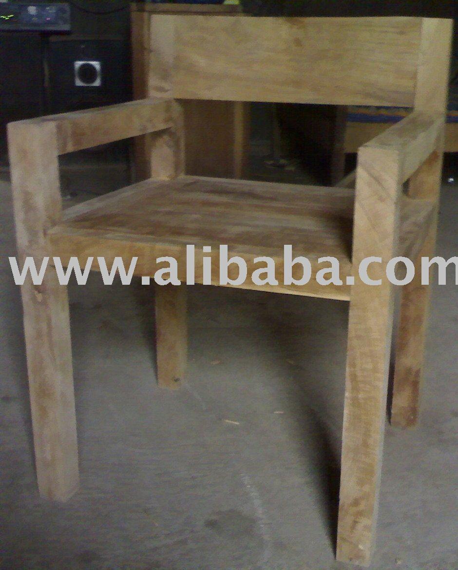 Muebles de madera de teca reciclada sillas de madera - Muebles madera teca ...