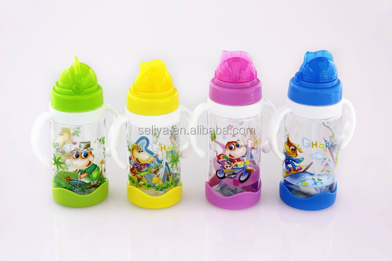 300ml plastic water bottle sports,bpa free,custom bottle