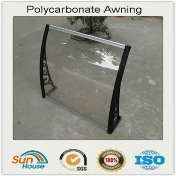 transparent plastic awning for door window