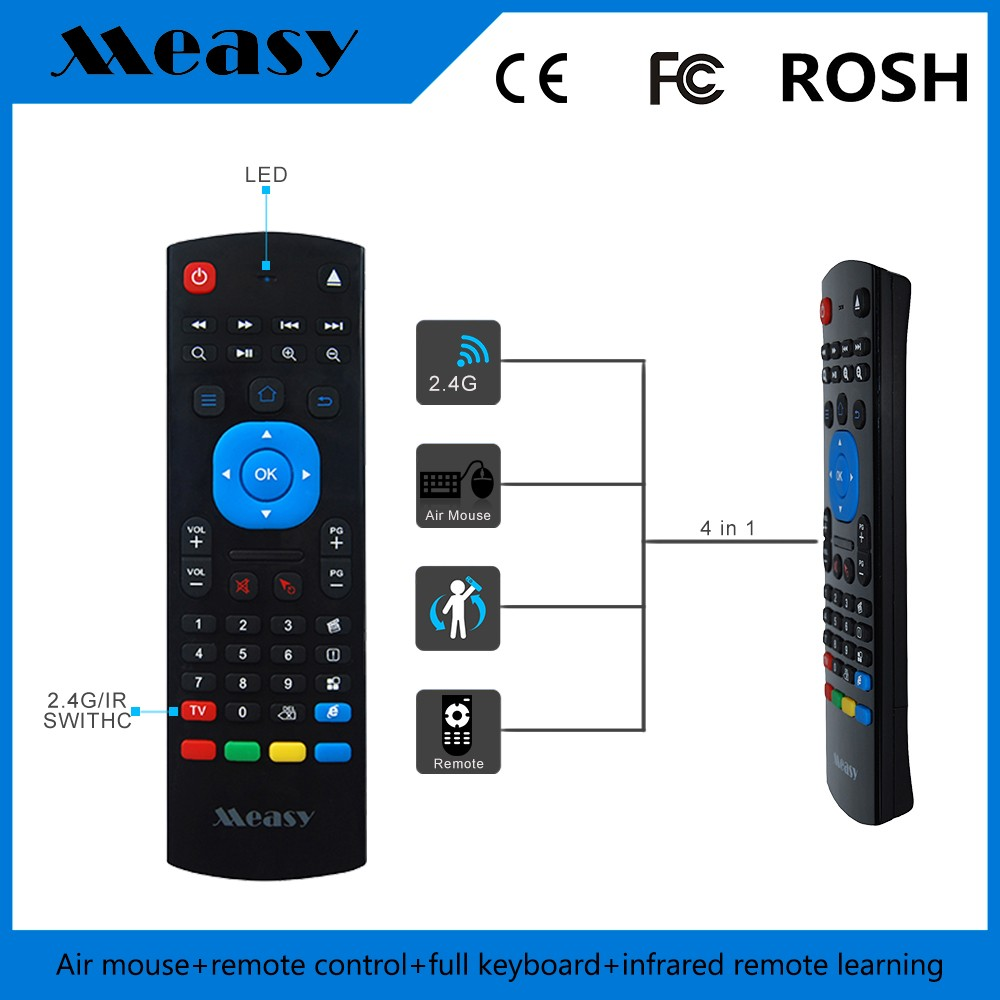 Newest Hottest!Wholesale Cheapest 2.4G Wireless Remote Control Auto Search Android Box Voice Fly Air Mouse Rc11 By e