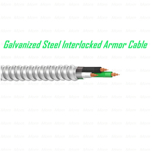Galvanized Steel Interlocked Armor Cable MC Cable THHN/THWN-2 as Inners Metal Clad Cable