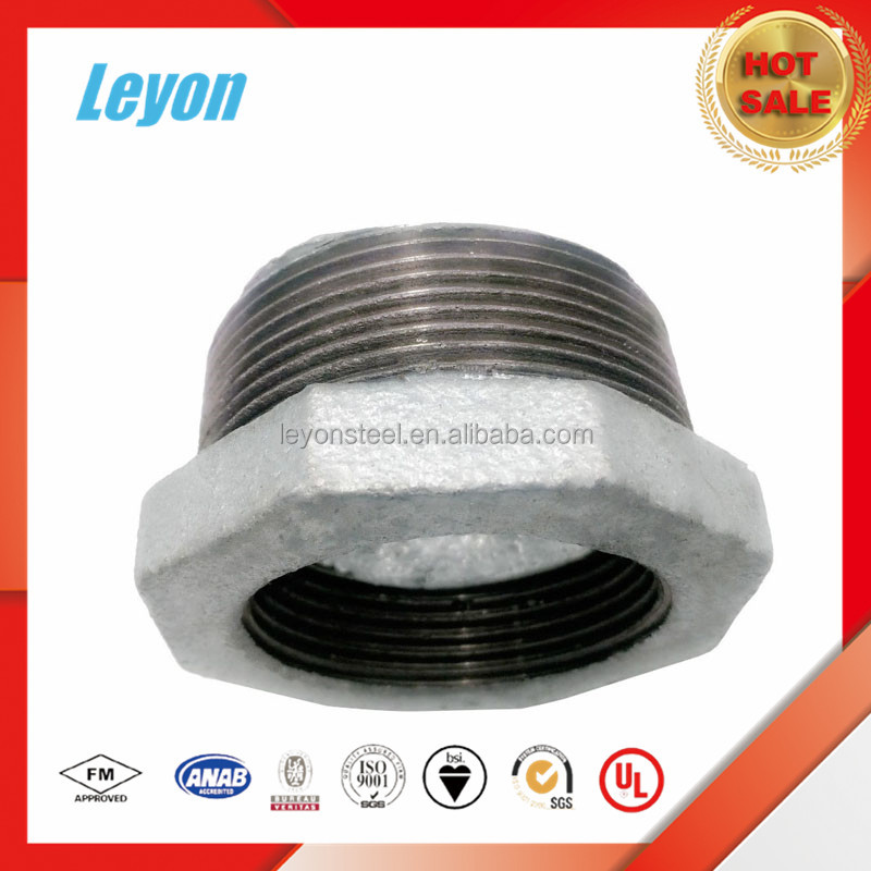 pipe fitting black malleable ironfor Joint Connecting Tubes bushing