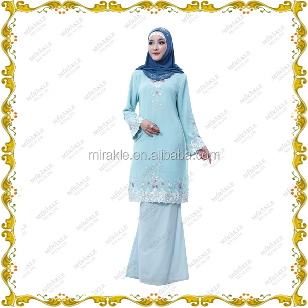 MF21295 latest islamic fashion design muslim dress baju kurung