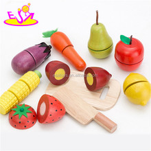 lovely wooden cutting toy set, wooden vegetable cutting toy for baby, juguete de corte de verduras W10B141