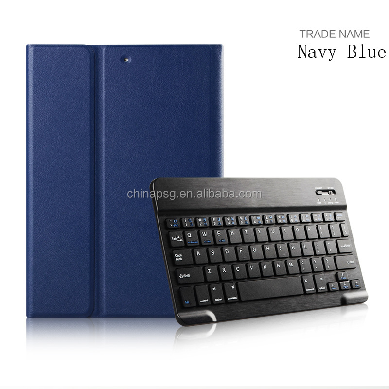 Auto Sleep Wake Bluetooth Keyboard with Executive PU Leather Case For iPad Air1/2
