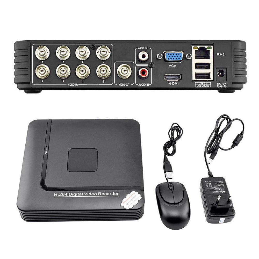 8 CH Mini DVR 2CH <strong>D1</strong>+6CH CIF CCTV DVR 960H Security System H.264 DVR Recorder