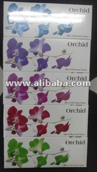 Orchid facial tissue