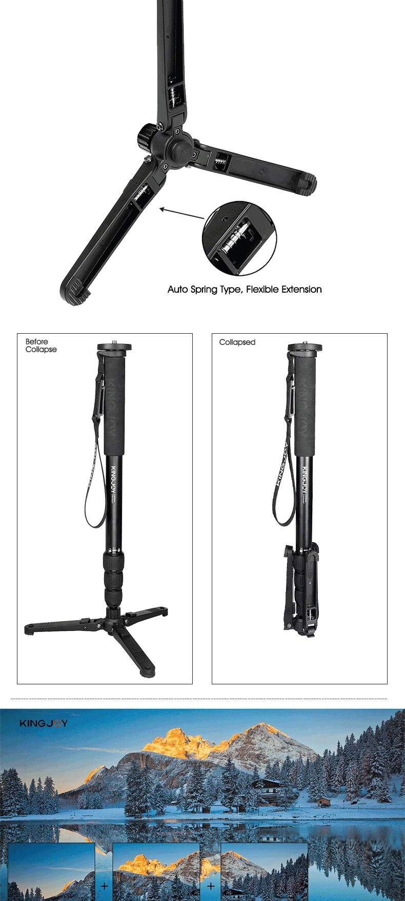 Telescopic monopod pole with selfie stick monopod unique products around world