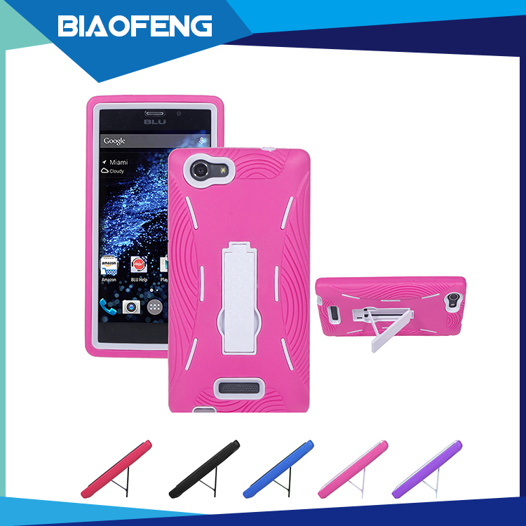 Wholesale American latest blu mobile phone case kickstand 3 in1 mobile accessories phone case for BLU Life one XL X030Q