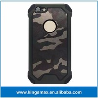 Green Hybrid Shock Absorption Dual Layer Shell Army Camouflage Phone Case Protective Cover for iPhone SE/for iPhone 6