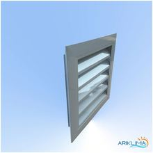 HVAC aluminium louver anodized ventilated return air grille for HVAC system WL