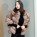 CX-G-A-227 Women's Dresses Genuine Fox Fur Real Fur Coat