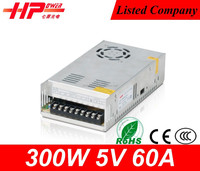 CE SMPS low price and hight quality single output constant voltage 300w 5v 60a led driver