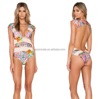 2016 wholesale sublimation printing hot sexy backless one piece swimsuit