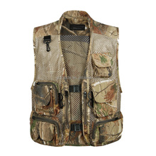 New Multi-pocket Vest for Shooting Men Cameraman Photographer Vest Reporter Director Outdoor Army
