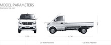 single row seat Dongfeng k series mini trucks