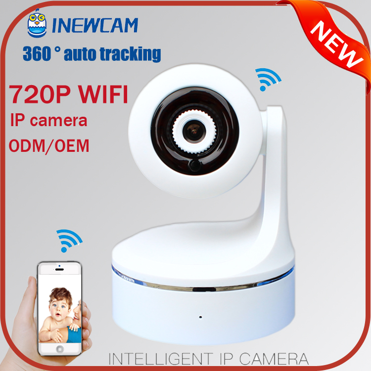 Best selling HD 720P Auto tracking 360 degree Pan Tilt P2p PTZ mini Wireless WIFI IP <strong>Cameras</strong>