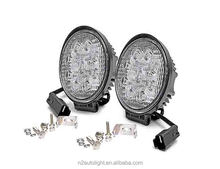 Super Bright Round Circle Flood 18W led driving light flush mount truck waterproof machine work lights