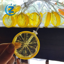 Waterproof chinese factory wholesale OEM twinkle warm white holiday party chain unique christmas fruit shape lemon string light