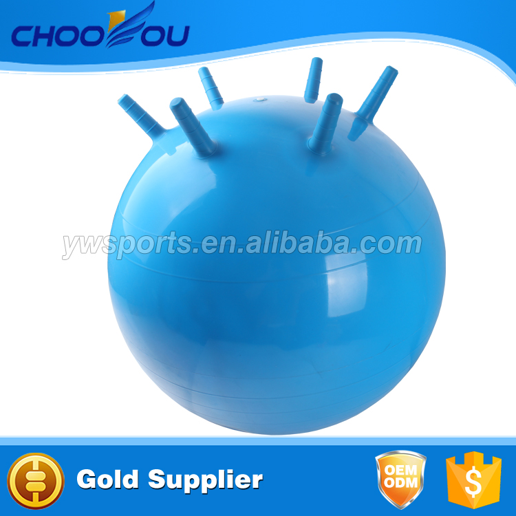 6 legs exercise ball/Wholesale ECO-friendly PVC hopper ball/jumping ball with handle for kids