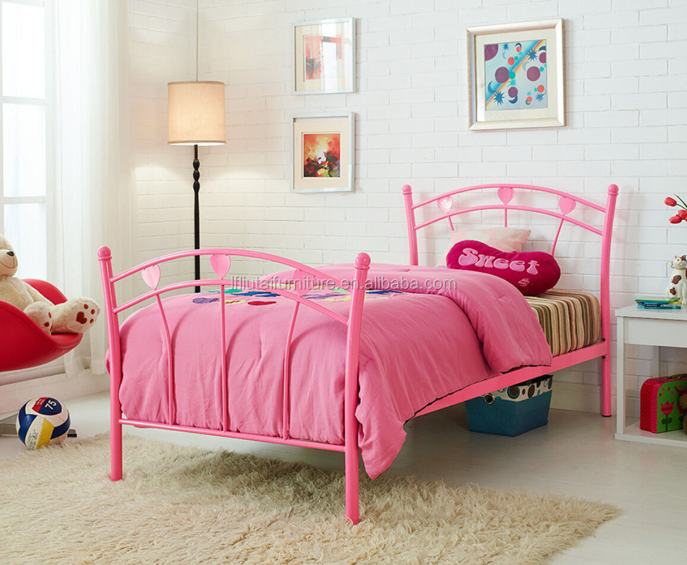Metal Kids Furniture Iron Bed Single Kids Iron Bed For