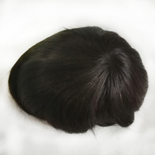 Qingdao Factory Wholesale Indian Virgin Hair Full PU 6 inch Wave Human Hair Topper for Men