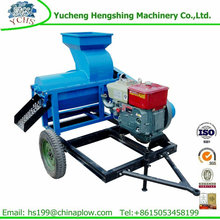 Agricultural corn sheller corn thresher with diesel engine power