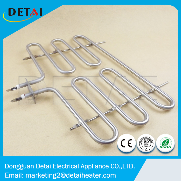 Tubular BBQ Heater Electric Heating Element 220v 2000w
