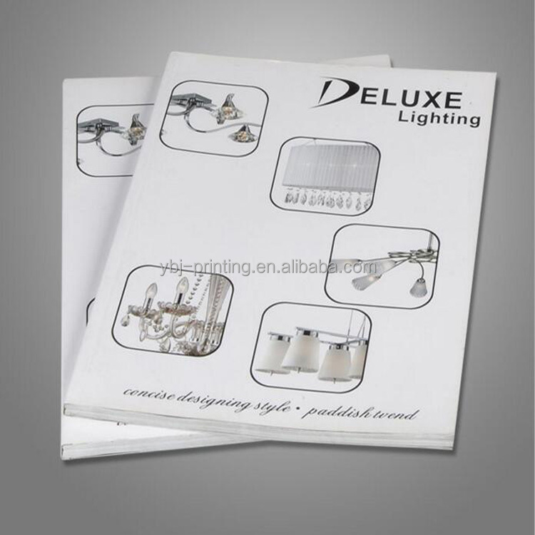 Custom cheap printing service, softcover, flyer , booklet, brochure, catalog printing for light