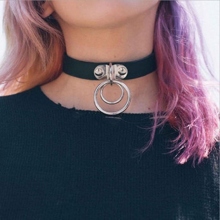 Hip Hop Jewelry vintage jewelry Punk Goth Men cool choker leather Necklaces
