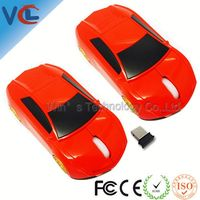 optical usb mini car shape wireless mouse with laser pointer