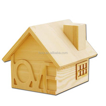 luxury creative solid wooden money box custom save money box design