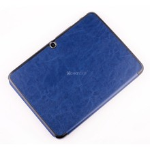 Stand leather custom case for samsung galaxy tab 3 10.1 inch P5200 smart cover folders