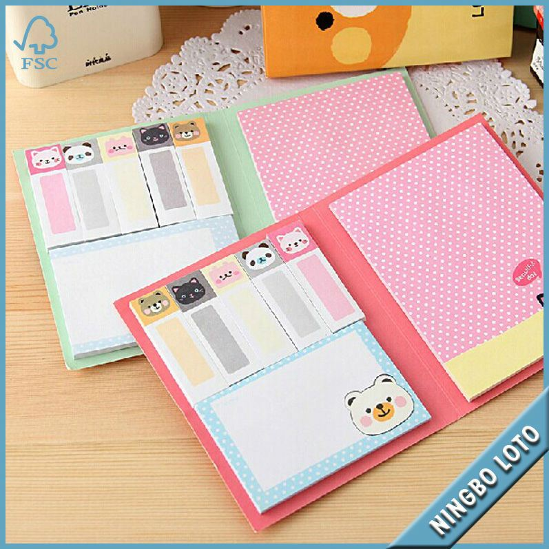China best quality animation shaped sticky note pad