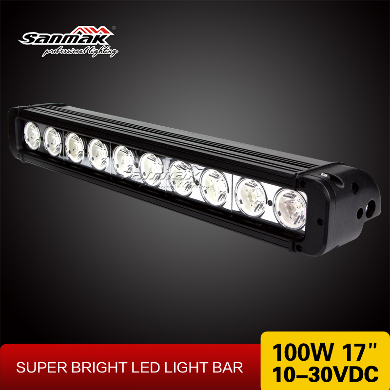 "17"" 100w Cree LED UTV LED light Super Bright UTV Truck Auto LED work light 4WD light"