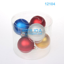 Hand Blown Clear Glass Ball Decorative Glass Ball colored glass ball